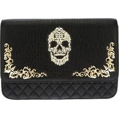 PHILIPP PLEIN skull embellished shoulder bag ($2,195) ❤ liked on Polyvore