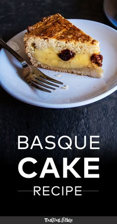 Gâteau Basque (Custard-Filled Basque Cake): This almond cake hides a rich layer of lemony custard with cognac-spiked cherries. Delicious Cake Recipes, Yummy Cakes, Dessert Recipes, French Desserts, Just Desserts, French Recipes, Basque Cake, Lemon Custard, Gateaux Cake