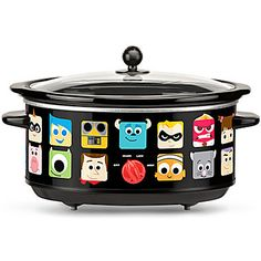 Pixar slow cooker--doesn't have a locking lid, and may not have a timer, but it's so cute!!! :P