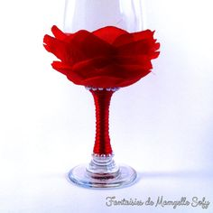 Gift idea for Valentine's day: Red rose petals on by MamzelleSofy Red Rose Petals, Red Roses, Unusual Wedding Gifts, Wine Glass, Valentines Day, Trending Outfits, Unique Jewelry, Handmade Gifts, Crafts