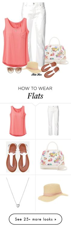 """""""summer outfit"""" by ria-kos on Polyvore featuring Betsey Johnson, Nili Lotan, prAna, Miss Selfridge and Links of London"""