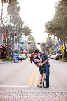 downtown West Palm Beach engagement session / Captured Photography by Jenny