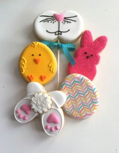 Easter cookies, bunny, peep, chick, easter egg cookies