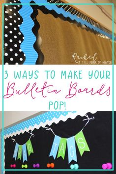 3 easy ways to make your classroom bulletin boards or classroom door stand out! 3 easy ways to make your classroom bulletin boards or classroom door stand out! Bulletin Board Borders, Bulletin Board Display, Classroom Bulletin Boards, Classroom Setting, Classroom Door, Classroom Design, School Classroom, Classroom Themes, Classroom Organization