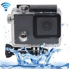 [$42.60] F88BR 4K Portable WiFi Waterproof StarVision Sport Camera with Remote Control, 0.66 inch LED  2.0 inch LCD, 170 Degrees Wide Angle Lens, Support TF Card / HDMI (Black)