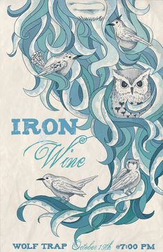 Iron and Wine poster color by ~jessisamess on deviantART.