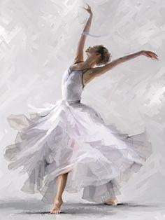 The Macneil Studio 'Dance of the Winter Solstice' Canvas Art White, Trademark Fine Art Art Ballet, Ballerina Painting, Ballet Poses, Ballet Girls, Ballet Dancers, Ballerinas, Ballerina Kunst, Wall Canvas, Canvas Art