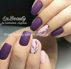 - nails art for spring & nail art. Video nail art - – nails art for spring & nail art. Spring Nail Art, Nail Designs Spring, Cool Nail Designs, Cute Nails For Spring, Purple Nail Designs, Flower Nail Designs, Summer Nails, Stylish Nails, Flower Nails