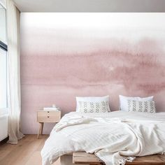 Wallpaper Abstract Watercolor Art Peel and Stick Custom Wall Mural Self Adhesive Accent Wall Traditi