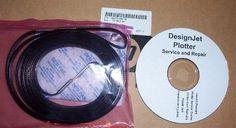 Q1251-60320 / Q1251-60144 / C6090-60072 Belt : Carriage belt - Long belt attached to the carriage - for 42 inch plotter models Genuine OEM HP Belt #carriagebelt #42inch #designjet5000 #designjet5500 #computercare #designjetparts