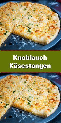 Knoblauch-Käse-Sticks - How to make pizza dough - Top Recipes, Crockpot Recipes, Chicken Recipes, Cooking Recipes, Dinner Recipes, How To Make Pizza, How To Eat Paleo, Pizza Snacks, Vegetarian Recipes