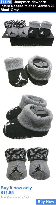Michael Jordan Baby Clothing: Jumpman Newborn Infant Booties Michael Jordan 23 Black Grey 0 - 6 Months BUY IT NOW ONLY: $11.65