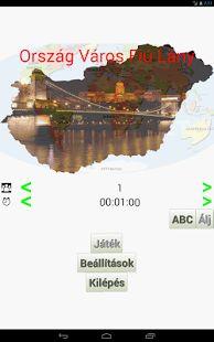 Ország Város Fiú Lány – képernyőfelvétel indexképe