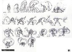 Avatar- the last Airbender by on DeviantArt Avatar Legend Of Aang, Avatar Aang, Drawing Reference Poses, Drawing Poses, Water Bending, Character Art, Character Design, Avatar Series, Avatar The Last Airbender Art