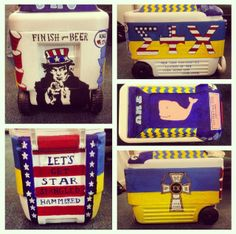 Frat Cooler my big and I made for Sigma Chi Sweetheart Elections at Johns Hopkins University #fratcooler #painted #JHU #cooler