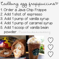Starbucks - Secret Recipe (Cadbury Egg Frappuccino)