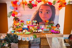 Take a look at this stunning Moana Birthday Party!! The backdrop is amazing!! See more party ideas at CatchMyParty.com #backdrop #moana