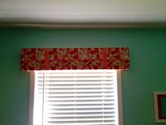 Two ribbons were added to this cornice. A variety of edging could be added to the bottom. Mount bracket to wall first, then slide cornice over brackets and secure with screws. Hospital Corners, Window Cornices, Valance Curtains, Valance Ideas, Wood Screws, Fabric Covered, Window Treatments, Room Inspiration, Home Crafts