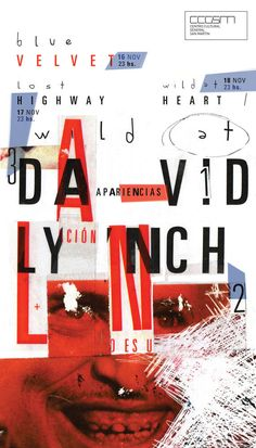 David Lynch 2015 - Catedra GabrieleYou can find David carson and more on our website. Graphic Design Tips, Graphic Design Posters, Graphic Design Typography, Graphic Design Illustration, Graphic Design Inspiration, Book Design, Cover Design, Design Art, Poster Designs