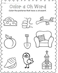 Ch Digraph Word Work Pack | Word Work, Worksheets and Centre