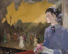 Dietz Edzard (1893-1963) Christine A L'opera (60 x 73,5 cm)