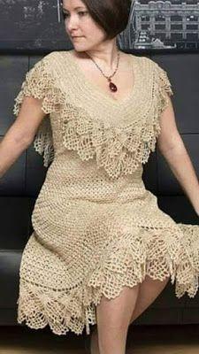PRECIOSO ARTE DEL CROCHET HERMOSO VESTIDO | Patrones Crochet, Manualidades y Reciclado