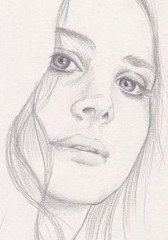 Portrait Femme Profil Thumb 5 Dessins Portraits Pinterest
