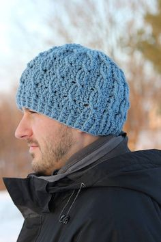 Crochet Pattern for Unisex Cable Cross Beanie - 8 sizes, newborn baby to  large adult - Welcome to sell finished items