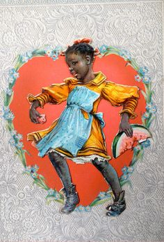 "Vintage 1903 Rafael Tuck & Sons character valentine - ""Topsy"" from Uncle Tom's Cabin"