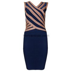 Herve Leger Blue Sexy Back Sequined Bandage Deess H573B
