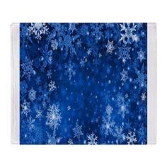 Snowflakes_Background_Texture Throw Blanket