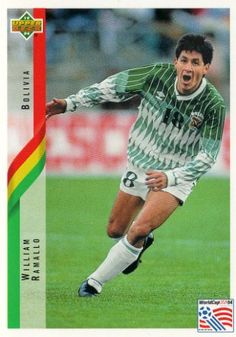 William Ramalo of Bolivia. 1994 World Cup Finals card.