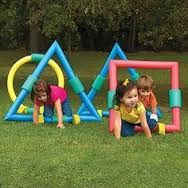 Montgomery Ward Foam Geometric Shapes for Kids Obstacle Course. Create your own backyard obstacle course with these soft foam shapes! Outdoor Games For Kids, Backyard For Kids, Backyard Games, Outdoor Fun, Outdoor Toys, Preschool Outdoor Games, Backyard Obstacle Course, Kids Obstacle Course, Summer Activities