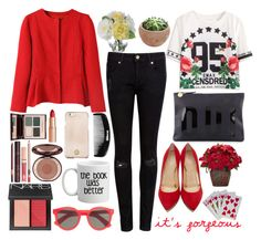 You Really Got Me Seeing Red by prettyorchid22 on Polyvore featuring polyvore fashion style Ted Baker Charlotte Olympia Clare V. Illesteva Tory Burch NARS Cosmetics Charlotte Tilbury Nearly Natural Diane James clothing