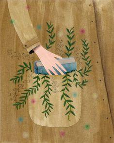 Illustration by Celeste Berlier Art And Illustration, Anne With An E, Reading Art, Reading Books, I Love Books, Cute Art, Art Paintings, Book Worms, Illustrators