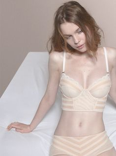 Model: Kim Noorda | Stella McCartney Lingerie Autumn/Winter 2010-11 | Via: bornbythesea
