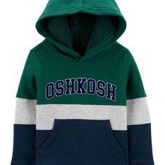 OshKosh BGosh baby-boys Colorblocked Parka With Cozy Hood Trim
