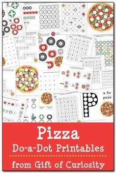 Free pizza do-a-dot printables that will make your mouth water! Grab these worksheets to help kids ages learn shapes, colors, letters, numbers and more! Science Activities For Kids, Alphabet Activities, Kindergarten Activities, Classroom Activities, Science Crafts, Learning Activities, Teaching Ideas, School Pizza, Tot School