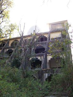abandoned ashram, India