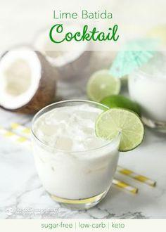 Lime Batida Cocktail (sugar-free, low-carb, keto)
