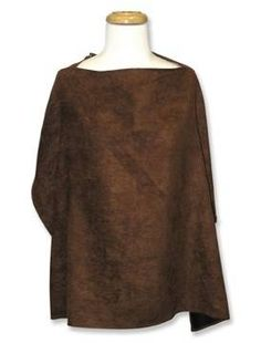 The Brown Ultra Suede Nursing Cover fits easily into diaper bag or purse. It has an adjustable neck strap with D ring for comfortable fit. One size fits all. 100% cotton percale. Approximately 24 #tinytotties