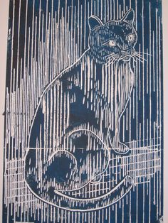yeyoungcobbler etsy shop --  Handmade woodblock prints in the tradition of Escher