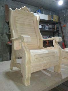 Wooden Sofa Designs, Wooden Main Door Design, Wooden Sofa Set, Handmade Furniture, Wooden Furniture, Furniture Projects, Furniture Plans, Outdoor Sofa Sets, Bedroom Bed Design