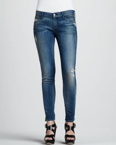 Dirty Destroyed Skinny Jeans