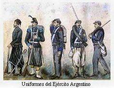 Uniformes argentinos - Guerra del Paraguay