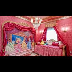 Disney girls room....I think my husband would kill me but I love this