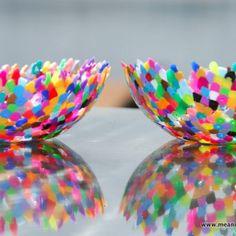 Day #202 Plastic Perler Bead Bowls