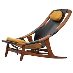 Arne Tidemand-Ruud Lounge Chair Model Holmenkollen by Norcraft in Norway Modular Furniture, Leather Furniture, Unique Furniture, Furniture Design, Plywood Shelves, Diy Chair, Chairs For Sale, Vintage Design, Modern Chairs