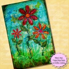 Natures Music Original Mixed Media Painting by CreativelyHappyOne, $229.00