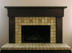 Custom tile and tile design in the Craftsman tradition. Fireplace Tile, Craftsman Fireplace, Craftsman Living Rooms, Fireplace Design, Custom Fireplace, Craftsman House, Fireplace Remodel, Craftsman Remodel, Simple Fireplace